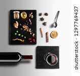mulled wine recipe ingredients... | Shutterstock . vector #1297769437