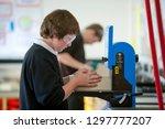 male high school student in... | Shutterstock . vector #1297777207
