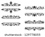 floral headers and borders in... | Shutterstock .eps vector #129778055