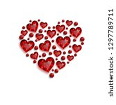 happy valentine's day. red... | Shutterstock .eps vector #1297789711