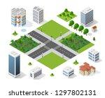 modern 3d city isometric three... | Shutterstock .eps vector #1297802131
