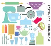 a stylized vector collection of ... | Shutterstock .eps vector #129781625