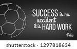 soccer ball on black background.... | Shutterstock .eps vector #1297818634