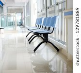 chairs in the hospital hallway. ... | Shutterstock . vector #129781889