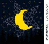 good night and sweet dreams... | Shutterstock .eps vector #1297830724
