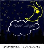 good night and sweet dreams... | Shutterstock .eps vector #1297830751