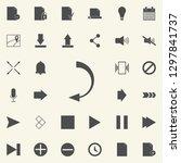 back arrow icon. web icons...