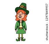 leprechaun female avatar | Shutterstock .eps vector #1297849957