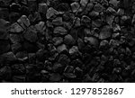 natural fire ashes with dark... | Shutterstock . vector #1297852867