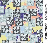 seamless pattern made up of...   Shutterstock .eps vector #1297861891