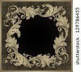 ornamental frame. vintage... | Shutterstock .eps vector #129786455