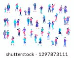 vector people character walking ... | Shutterstock .eps vector #1297873111