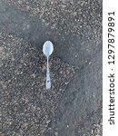 silver spoon in the road | Shutterstock . vector #1297879891