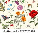 summer vector seamless pattern. ...   Shutterstock .eps vector #1297890574