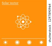 pictograph of atom | Shutterstock .eps vector #1297890964