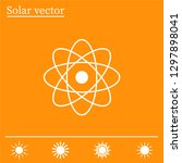 pictograph of atom | Shutterstock .eps vector #1297898041