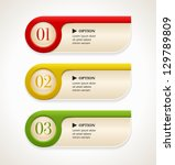 horizontal colorful options... | Shutterstock .eps vector #129789809