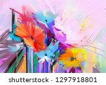 abstract colorful oil  acrylic... | Shutterstock . vector #1297918801