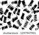 brush grunge pattern. white and ... | Shutterstock .eps vector #1297947901