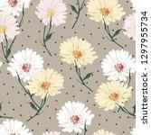 blossom floral seamless pattern ...   Shutterstock .eps vector #1297955734