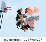 basketball player. basketball... | Shutterstock . vector #1297964227