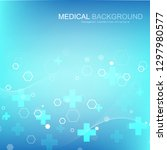 abstract medical background dna ... | Shutterstock .eps vector #1297980577