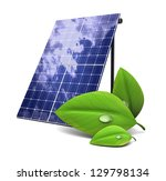3d illustration of solar panel... | Shutterstock . vector #129798134