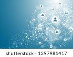 global network connection...   Shutterstock .eps vector #1297981417