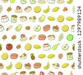 fruits and snacks set....   Shutterstock .eps vector #1297989124