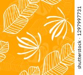 tropical pattern with white... | Shutterstock .eps vector #1297997731