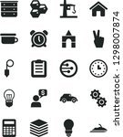 solid black vector icon set  ... | Shutterstock .eps vector #1298007874