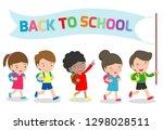 illustration of kids going to...   Shutterstock .eps vector #1298028511