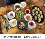 seafood  abalone dish  clams    Shutterstock . vector #1298035114