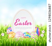 happy easter background...   Shutterstock .eps vector #1298036887