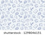seamless background with images ... | Shutterstock .eps vector #1298046151