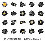 flowers set. collection of... | Shutterstock .eps vector #1298056177