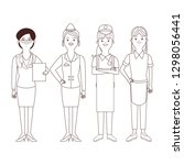 women profession and occupation ... | Shutterstock .eps vector #1298056441