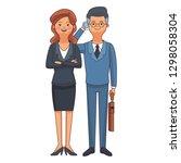 executive business couple...   Shutterstock .eps vector #1298058304