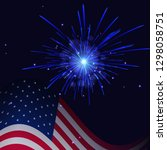 united states flag and... | Shutterstock . vector #1298058751