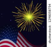 united states flag and golden... | Shutterstock . vector #1298058754
