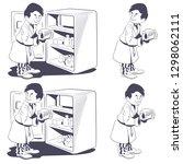 stock illustration. man eating...   Shutterstock .eps vector #1298062111