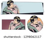 stock illustration. man with a...   Shutterstock .eps vector #1298062117