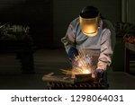 working person industrial in... | Shutterstock . vector #1298064031