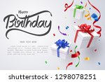 falling gift box and happy... | Shutterstock .eps vector #1298078251