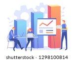 business analytic concept  ... | Shutterstock .eps vector #1298100814
