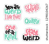 sticker set design template... | Shutterstock .eps vector #1298104267