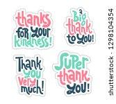 sticker set design template... | Shutterstock .eps vector #1298104354