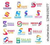 corporate identity letter s... | Shutterstock .eps vector #1298105077