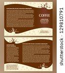brochure folder card coffee... | Shutterstock .eps vector #129810791