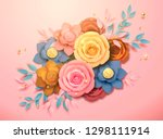 beautiful colorful paper... | Shutterstock .eps vector #1298111914